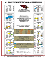 2018-2019 ACADEMIC CALENDAR WITH 2-HOUR EARLY DISMISSAL DATES