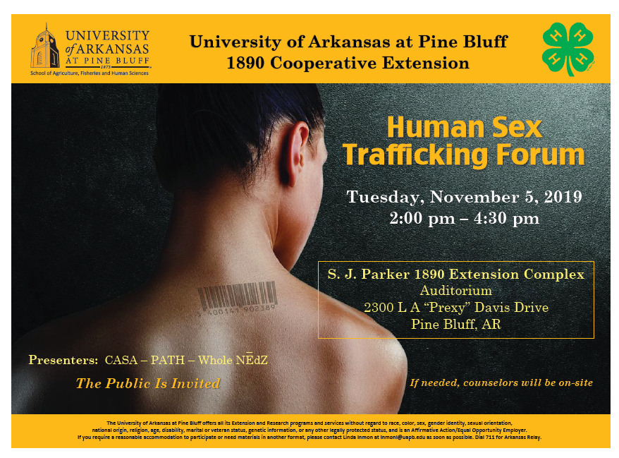 UAPB TRAFFICKING FORUM