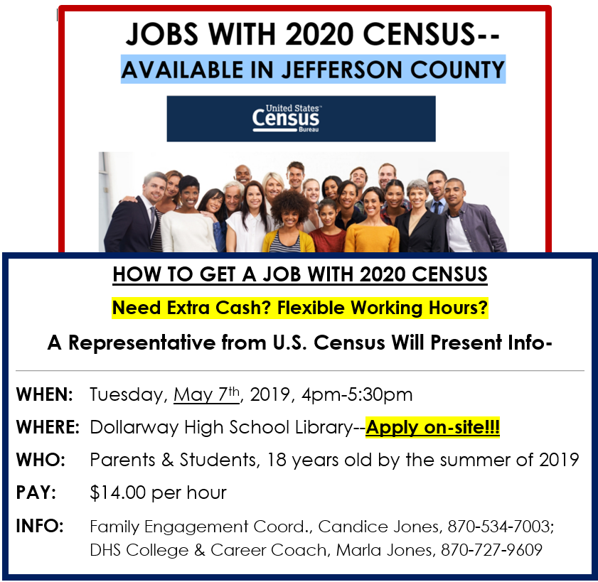 JOBS WITH U.S. CENSUS AVAILABLE