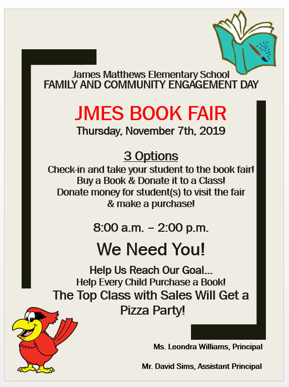 JMES FAMILY & COMMUNITY ENGAGEMENT DAY/BOOK FAIR