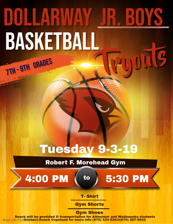 JR. HIGH BASKETBALL TRY-OUTS