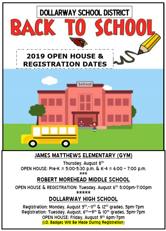 OPEN HOUSE & REGISTRATION DATES