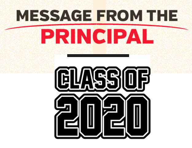 MESSAGE FOR THE CLASS OF 2020
