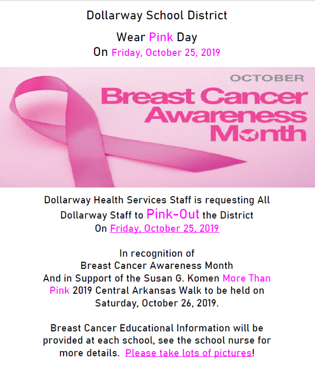 OCT. 25th--PINK OUT DAY!!!