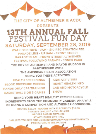 CITY OF ALTHEIMER--FALL FESTIVAL