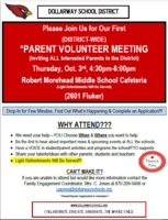 DISTRICT-WIDE PARENT VOLUNTEER MEETING