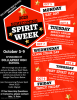 SPIRIT WEEK: 2020 HOMECOMING