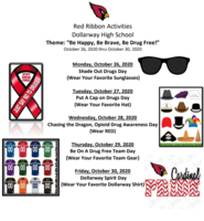 RED RIBBON WEEK: OCT. 26th-30th