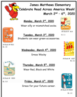 JMES CELEBRATES--READ ACROSS AMERICA WEEK