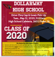 CLASS OF 2020: DRIVE-THRU CAP & GOWN PICK-UP